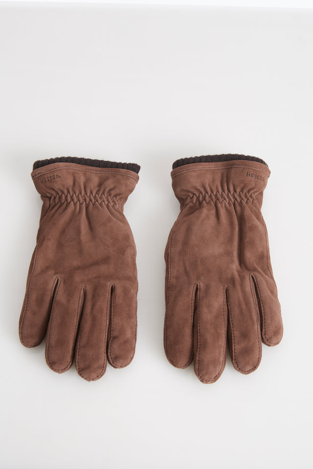 Hestra Light Brown Suede Primaloft Lined Gloves - Accessories - Hestra - LALONDE's