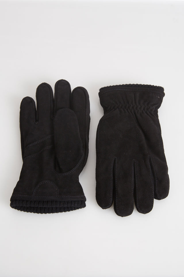 Hestra Black Suede Primaloft Lined Gloves - Accessories - Hestra - LALONDE's