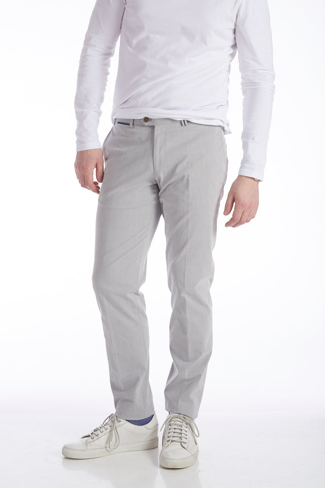 Hiltl Light Grey Supima Cotton Pants - Pants - Hiltl - LALONDE's