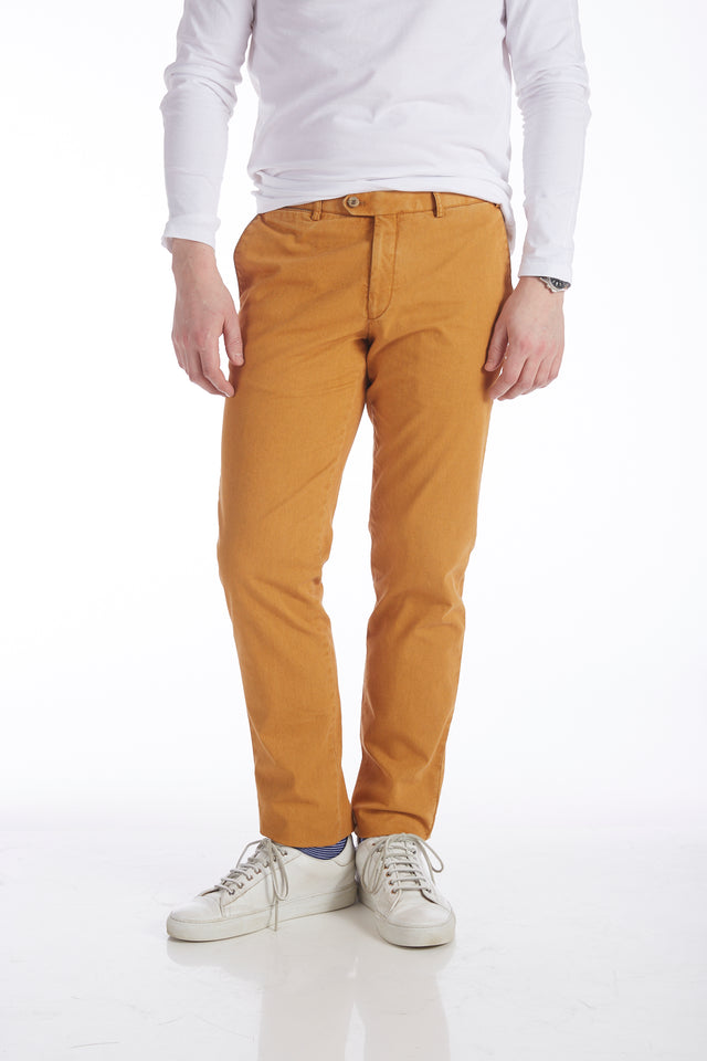 Hiltl Mustard Yellow Cotton Chinos - Pants - Hiltl - LALONDE's