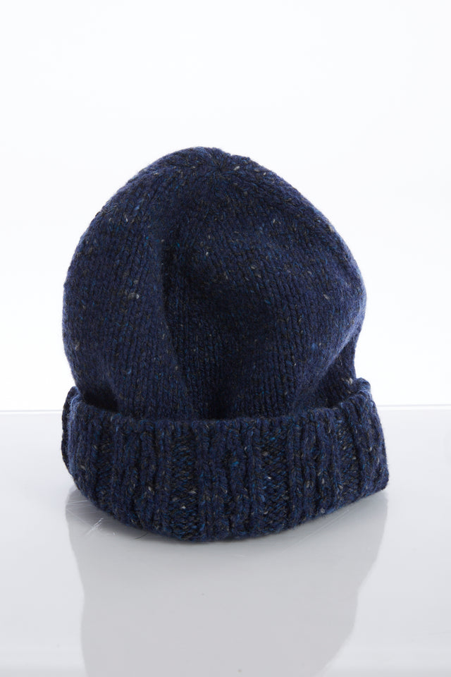 Inis Meain Blue Donegal Cashmere-Wool Fisherman Cap - Accessories - Inis Meáin - LALONDE's