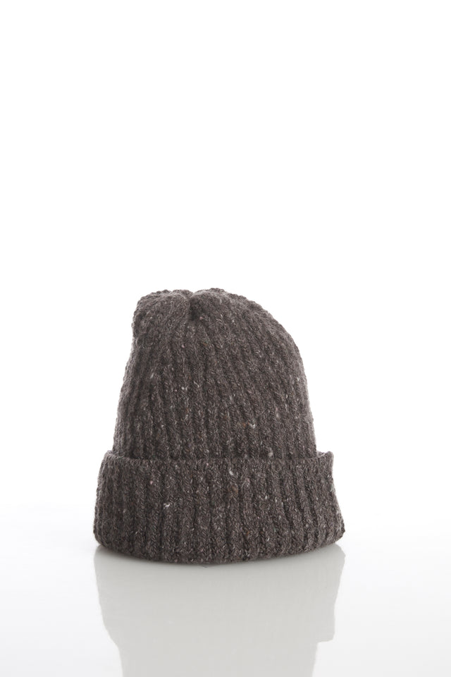 Inis Meáin Brown Donegal Cashmere-Wool Hat - Accessories - Inis Meáin - LALONDE's