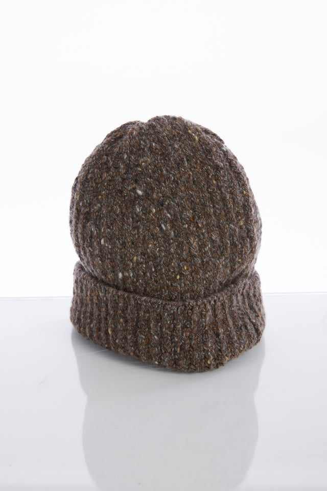 Inis Meain Brown Donegal Wool-Cashmere Fisherman's Cap - Accessories - Inis Meáin - LALONDE's