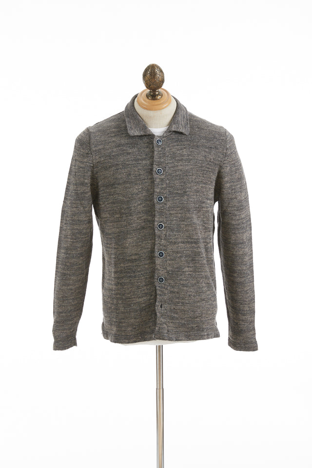 Inis Meáin Cliff Grey Linen Shirt Jacket - Sweaters - Inis Meáin - LALONDE's