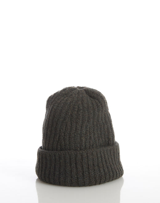 Inis Meáin Green Ribbed Wool Hat - Accessories - Inis Meáin - LALONDE's