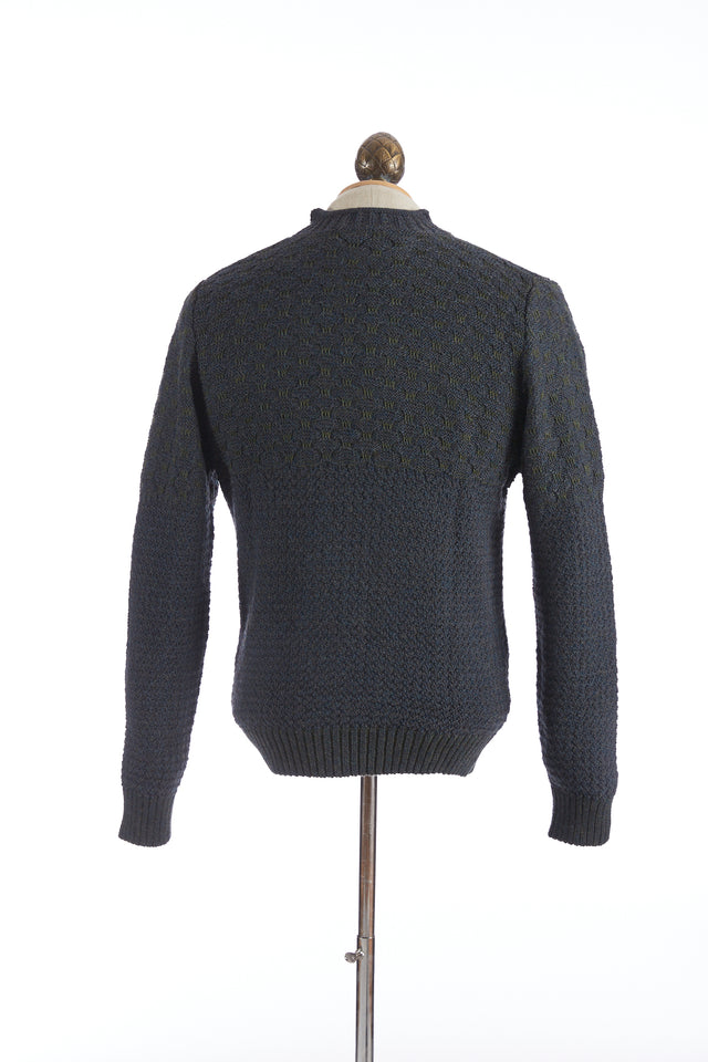 Inis Meáin Green Seafoam Yoke Pullover Sweater - Sweaters - Inis Meáin - LALONDE's