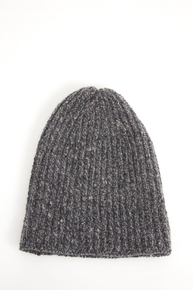 Inis Meáin Grey Donegal Cashmere-Wool Hat - Accessories - Inis Meáin - LALONDE's