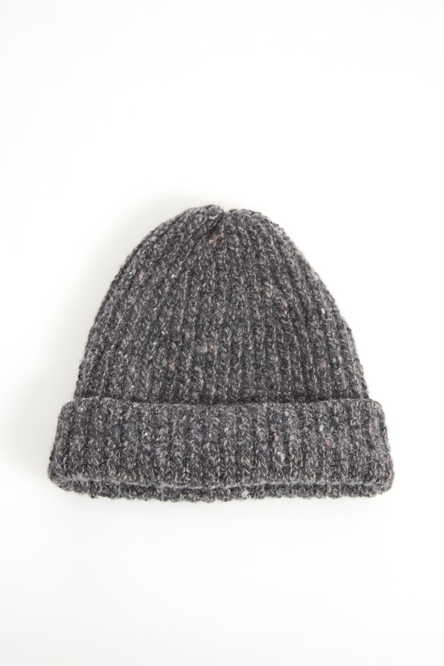 ce116dc9d6c Inis Meáin Grey Donegal Cashmere-Wool Hat - Accessories - Inis Meáin -  LALONDE s