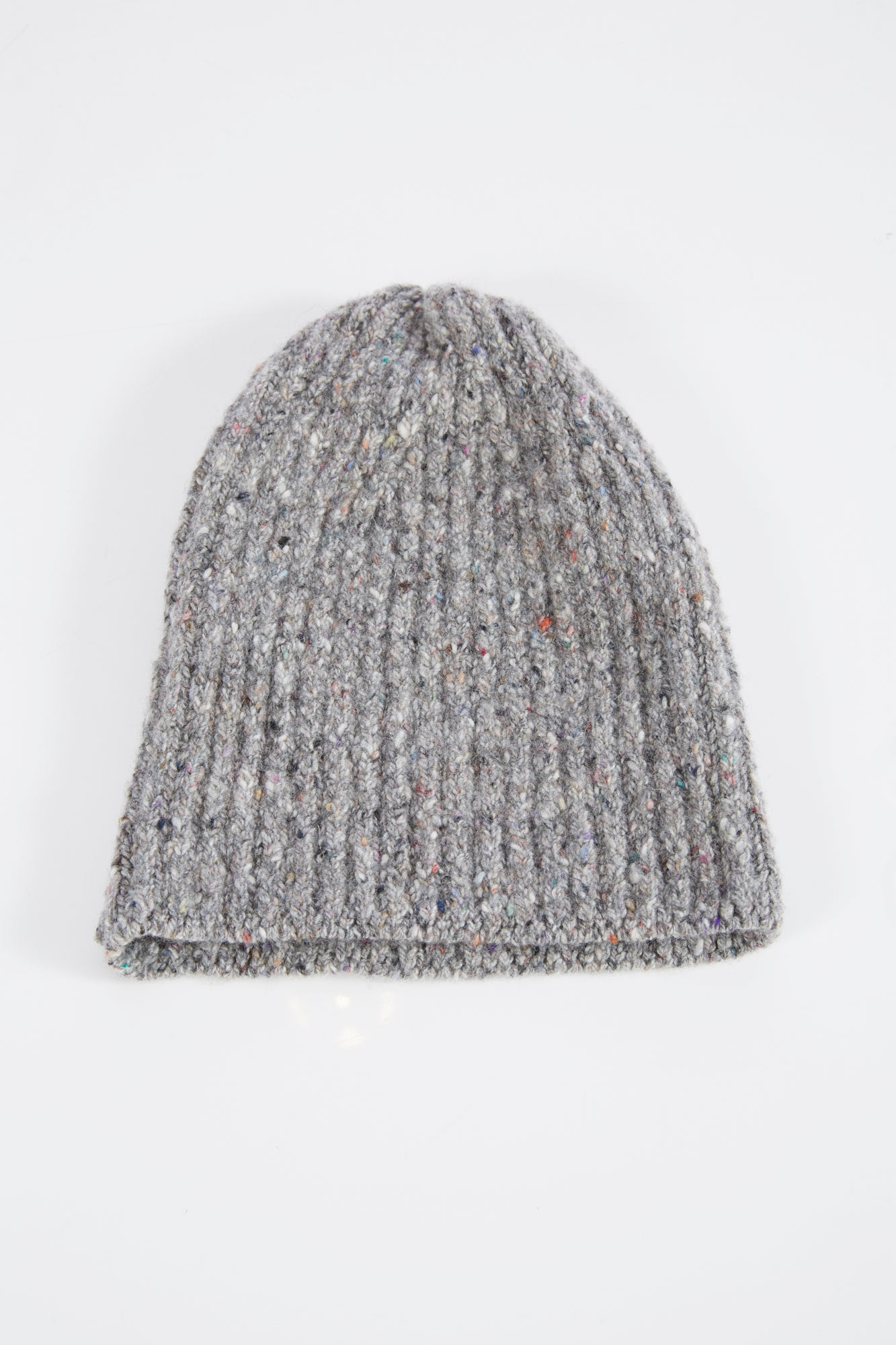 Inis Meain Grey Donegal Wool-Cashmere Beanie