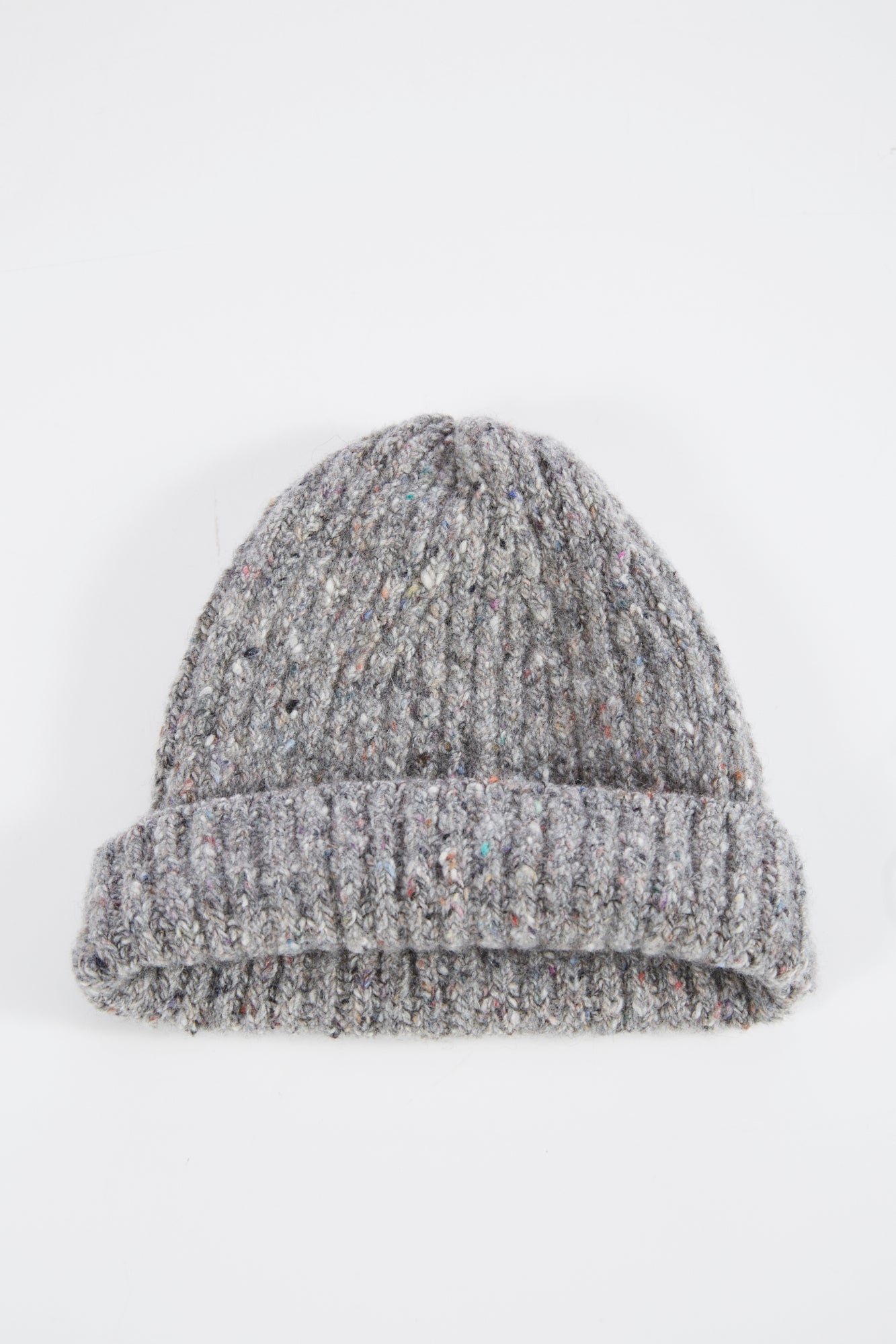 Inis Meain Grey Donegal Wool-Cashmere Cap
