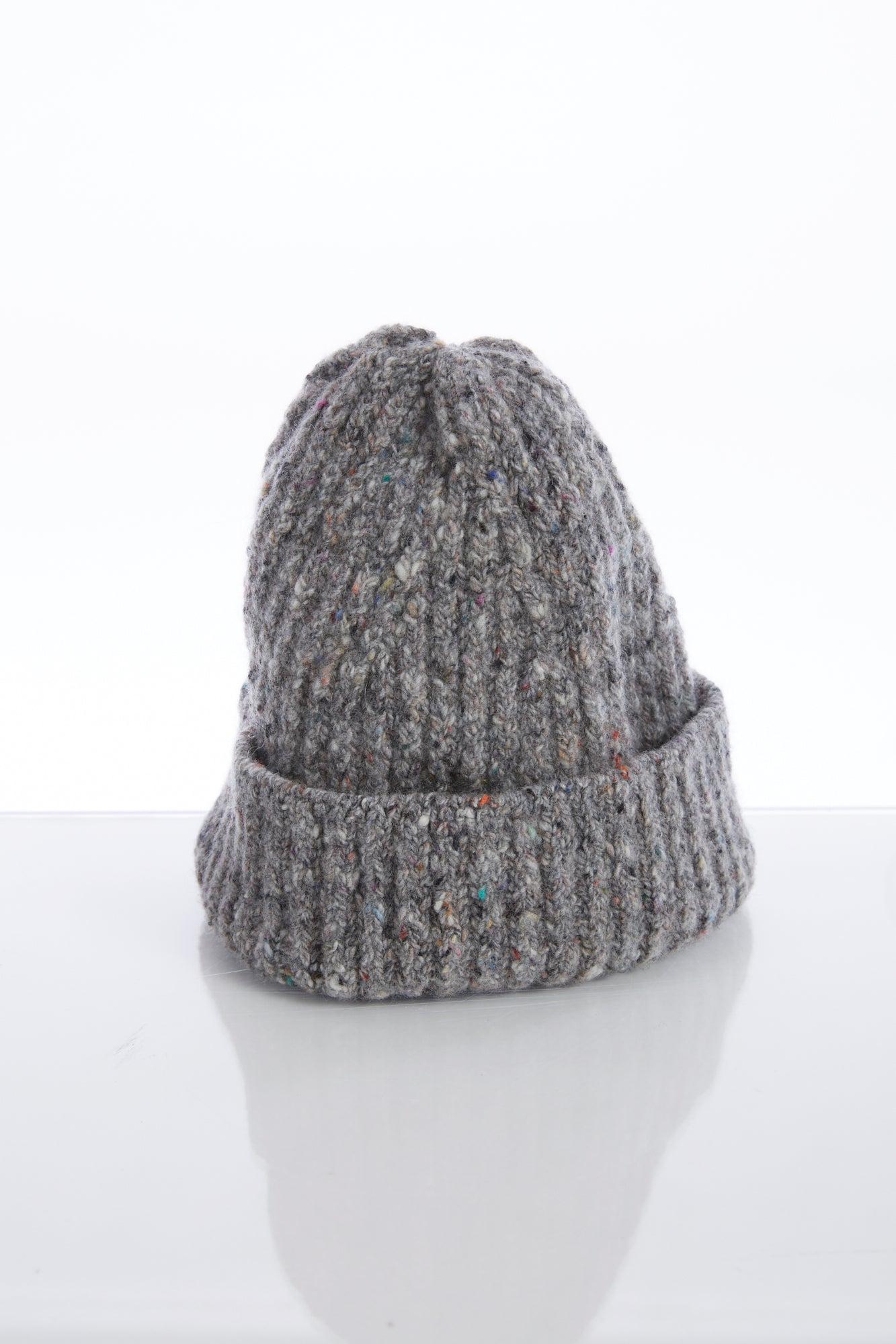Inis Meain Grey Donegal Wool-Cashmere Hat