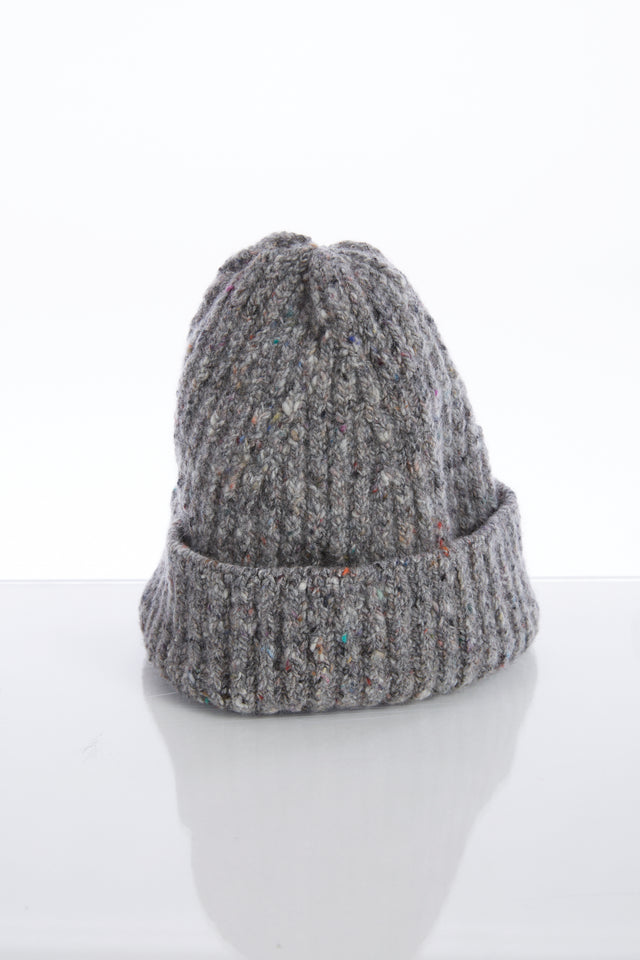 Inis Meain Grey Donegal Wool-Cashmere Fisherman's Cap - Accessories - Inis Meáin - LALONDE's