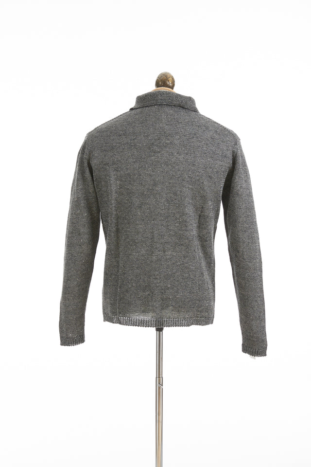 Inis Meáin Sole Grey Linen Pub Jacket - Sweaters - Inis Meáin - LALONDE's