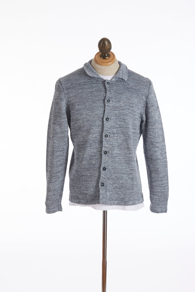 Inis Meáin Light Blue Linen Sardine Shirt Jacket