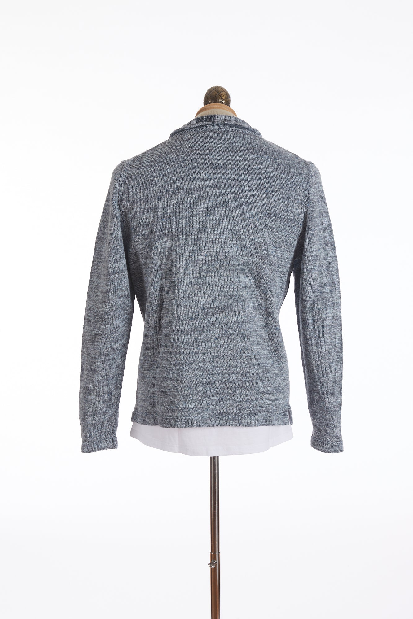 Inis Meáin Light Blue Linen Sweater Shirt Jacket - Sweaters - Inis Meáin - LALONDE's