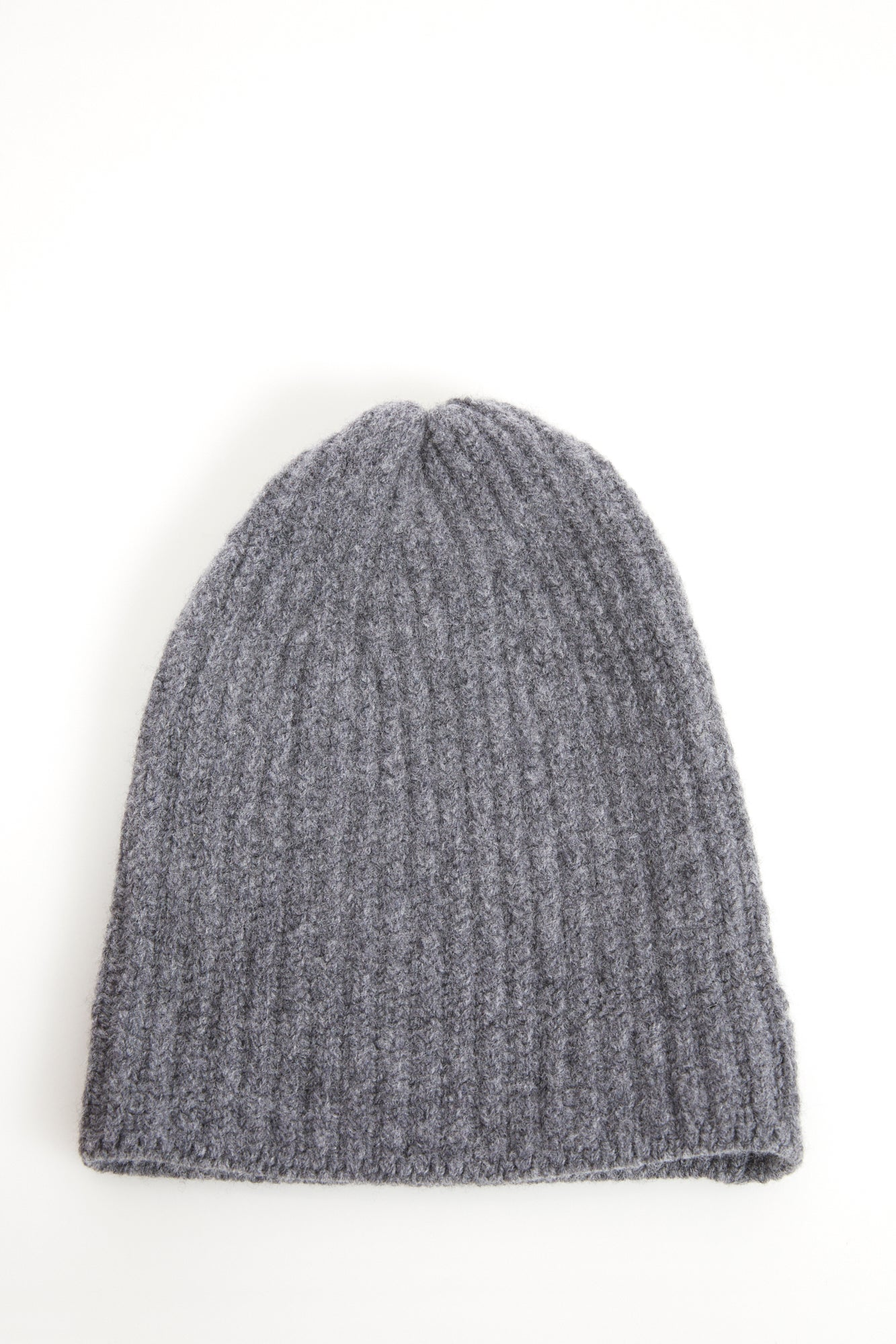Inis Meáin Light Grey Ribbed Wool Hat - Accessories - Inis Meáin - LALONDE's
