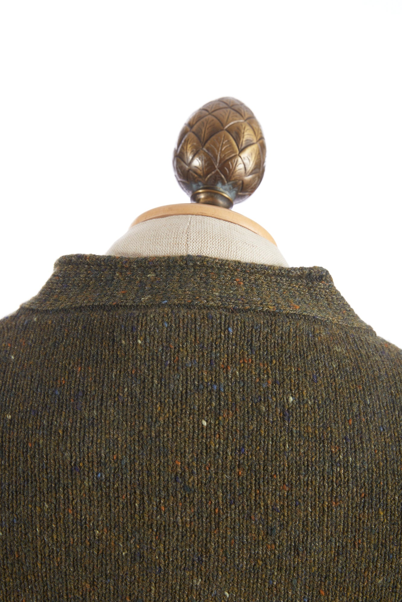 Inis Meáin Loden Green Donegal Plated Hurler Sweater - Sweaters - Inis Meáin - LALONDE's