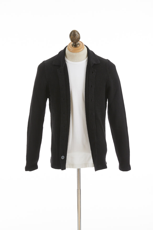 Inis Meáin Navan Black Linen Shirt Jacket - Sweaters - Inis Meáin - LALONDE's