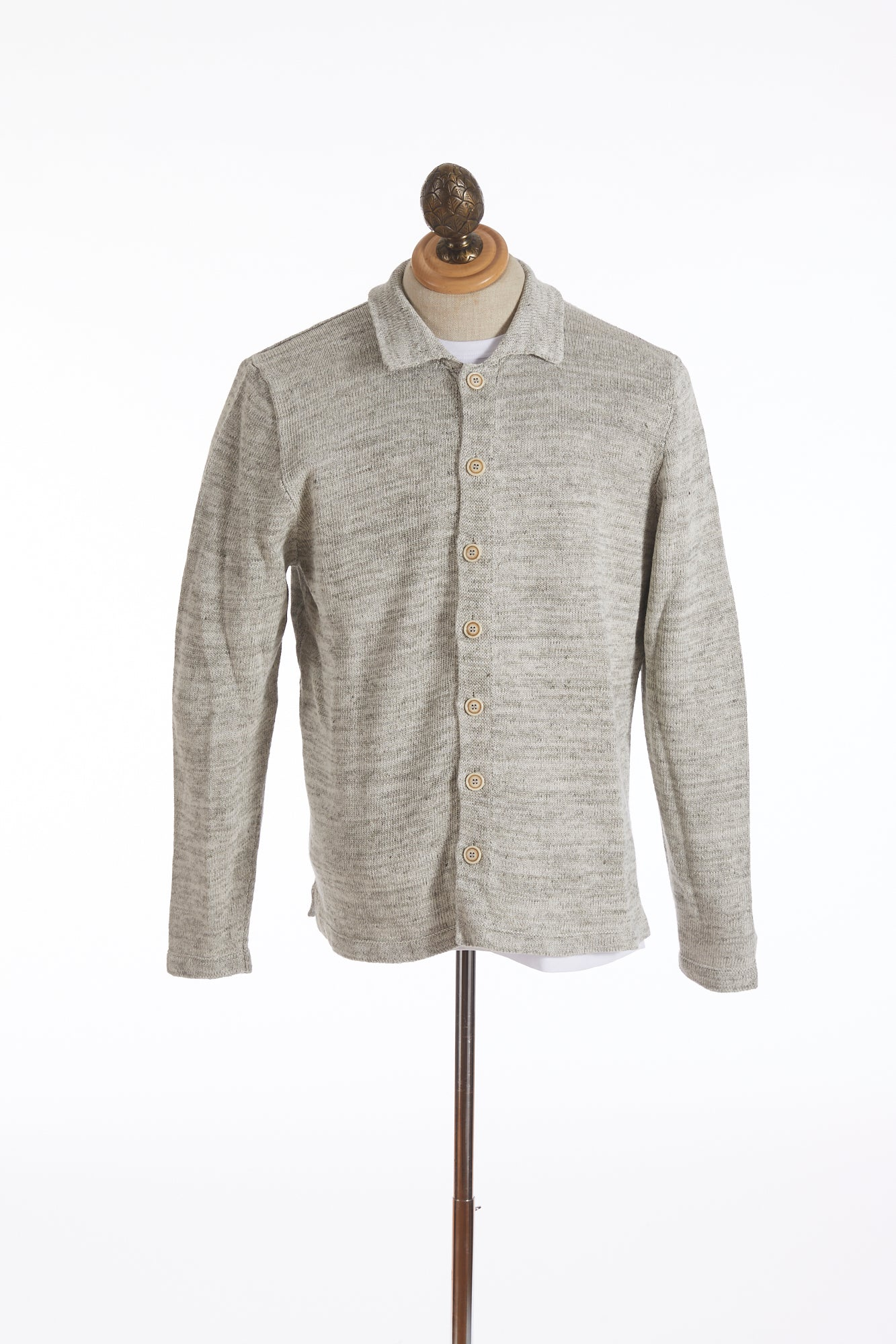 Inis Meáin Off-White Linen Shirt Jacket - Sweaters - Inis Meáin - LALONDE's