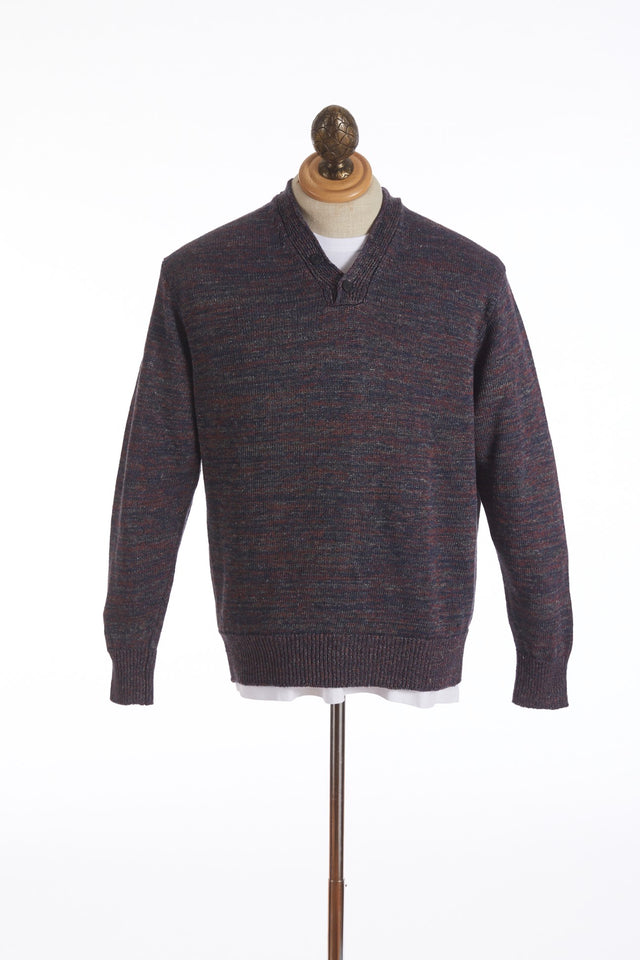 Inis Meáin Purple Linen Donegal Hurling Sweater - Sweaters - Inis Meáin - LALONDE's