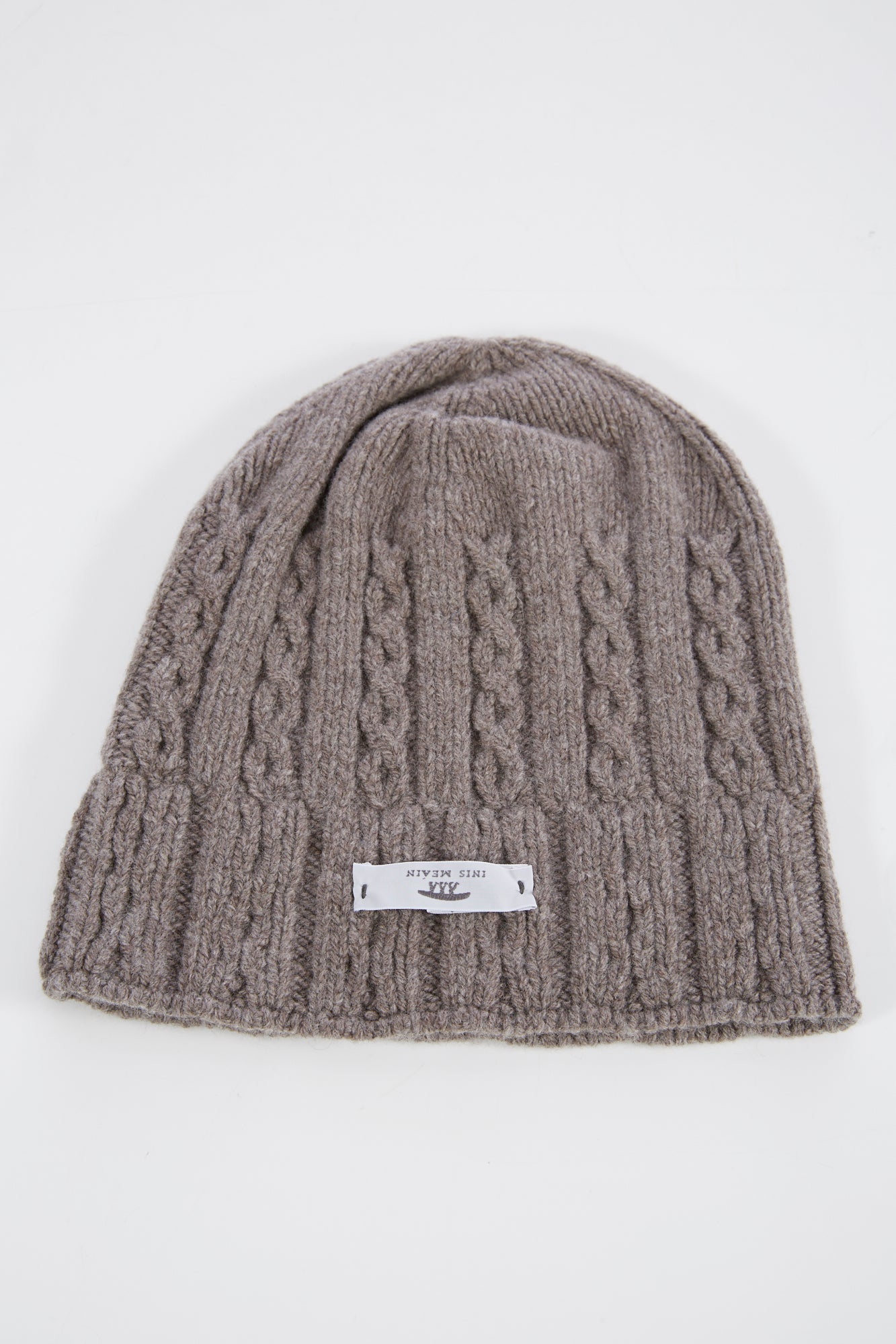 Inis Meain Taupe Cashmere-Wool Fisherman Cap - Accessories - Inis Meáin - LALONDE's