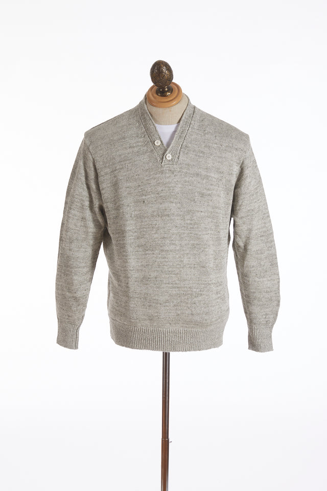 Inis Meáin Natural Linen Donegal Hurling Sweater - Sweaters - Inis Meáin - LALONDE's