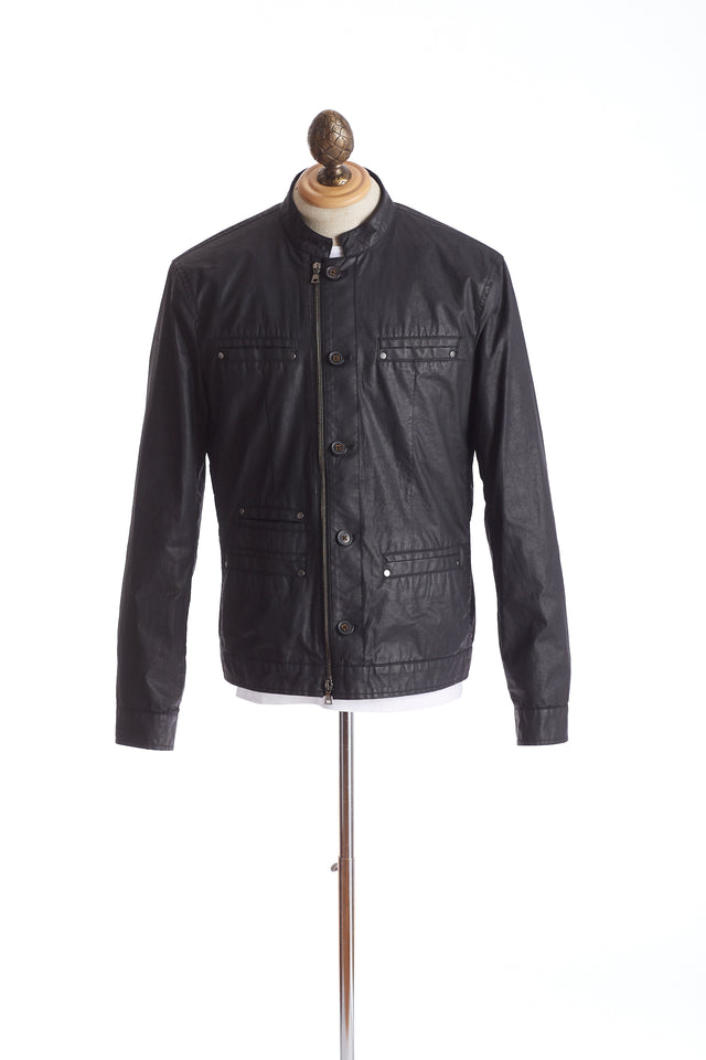 John Varvatos Coated Moto Jacket