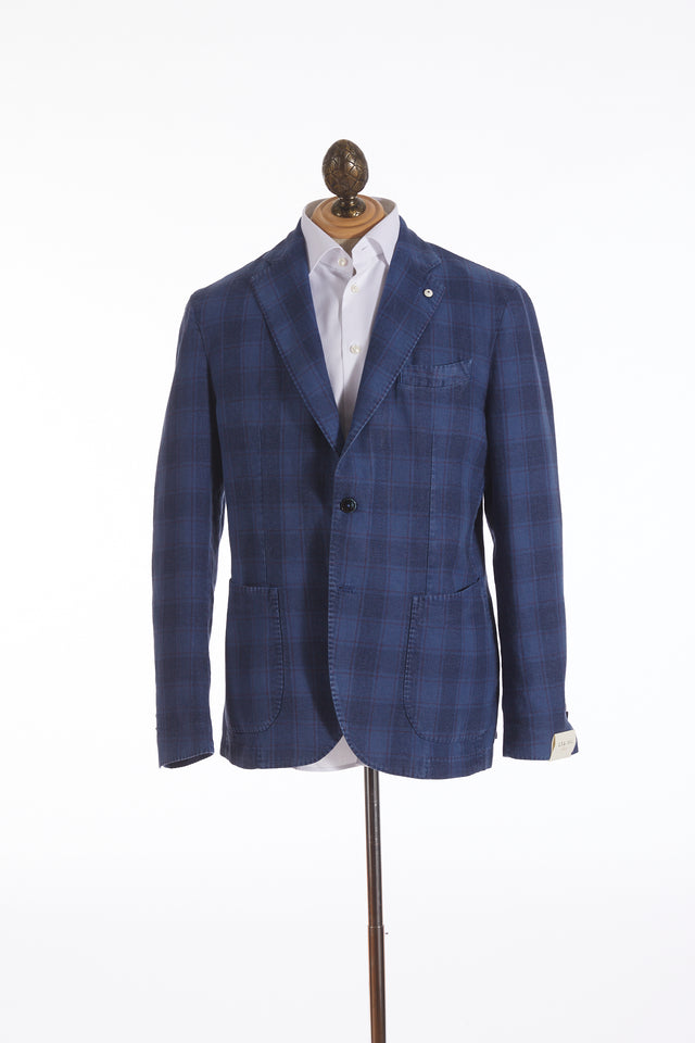 L.B.M. 1911 Blue Glen Check Sport Jacket