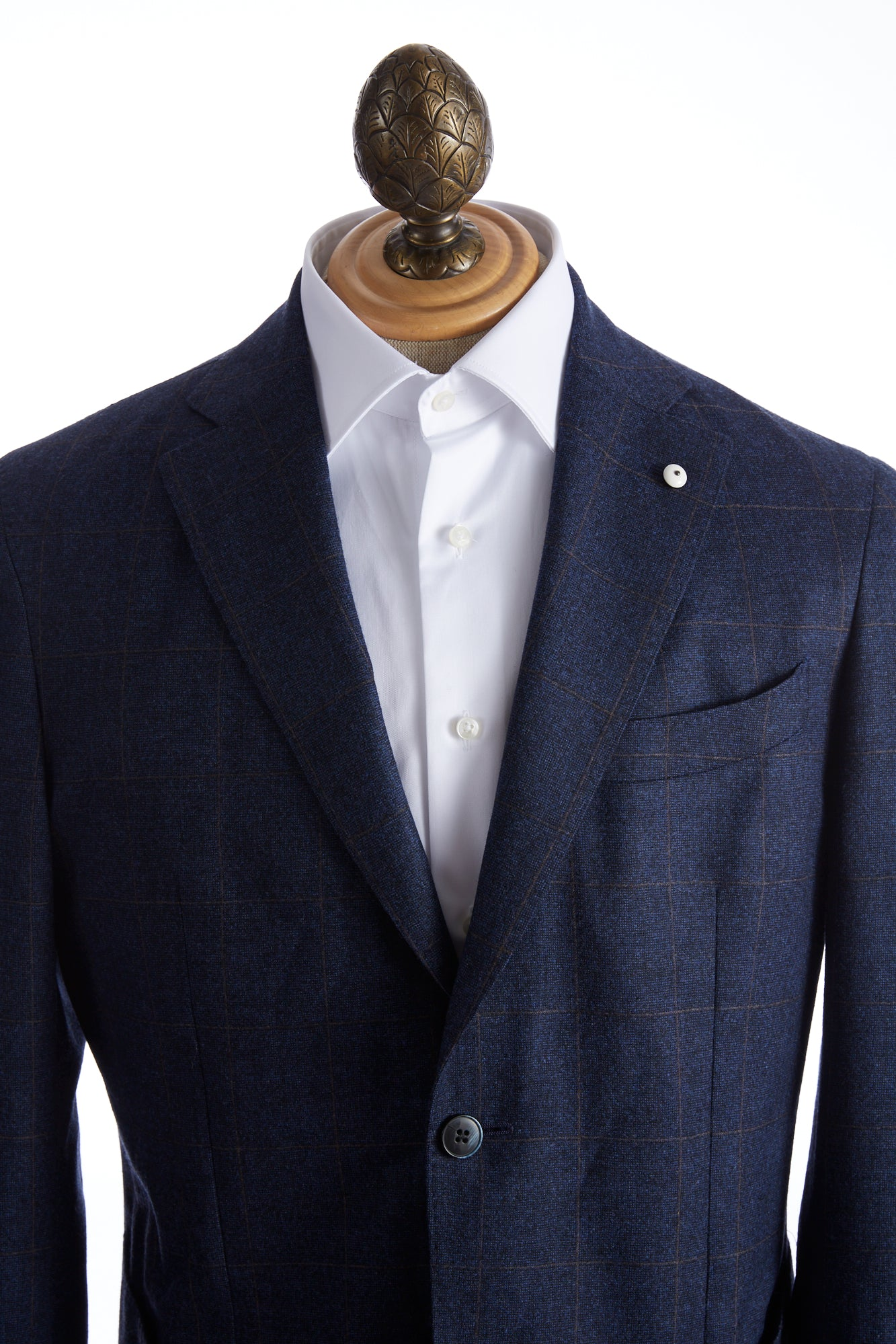 L.B.M. 1911 Blue with Brown Check Sport Jacket - Sport Jackets - L.B.M. 1911 - LALONDE's