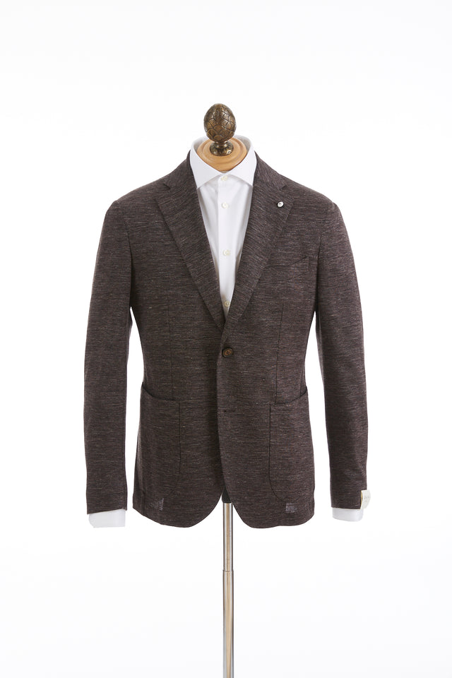 L.B.M. 1911 Brown Cotton-Linen Sport Jacket - Sport Jackets - L.B.M. 1911 - LALONDE's