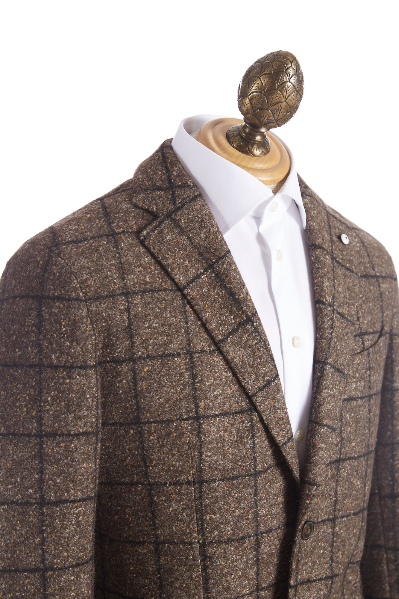 L.B.M. 1911 Brown Donegal Windowpane Sport Jacket - Sport Jackets - L.B.M. 1911 - LALONDE's