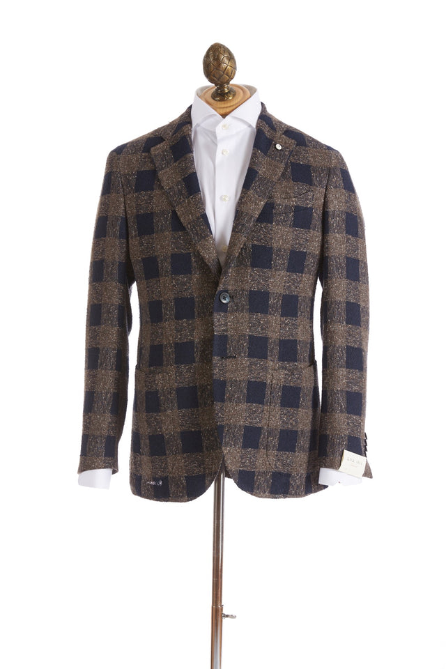 L.B.M. 1911 Brown and Navy Large Check Sport Jacket - Sport Jackets - L.B.M. 1911 - LALONDE's
