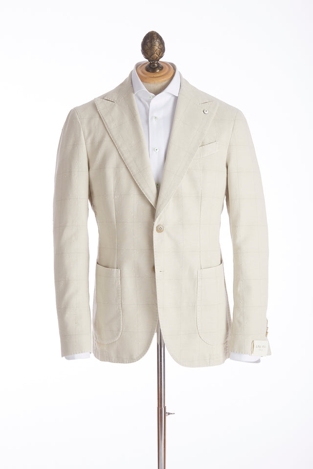 L.B.M. 1911 Cream Shadow Check Sport Jacket - Sport Jackets - L.B.M. 1911 - LALONDE's