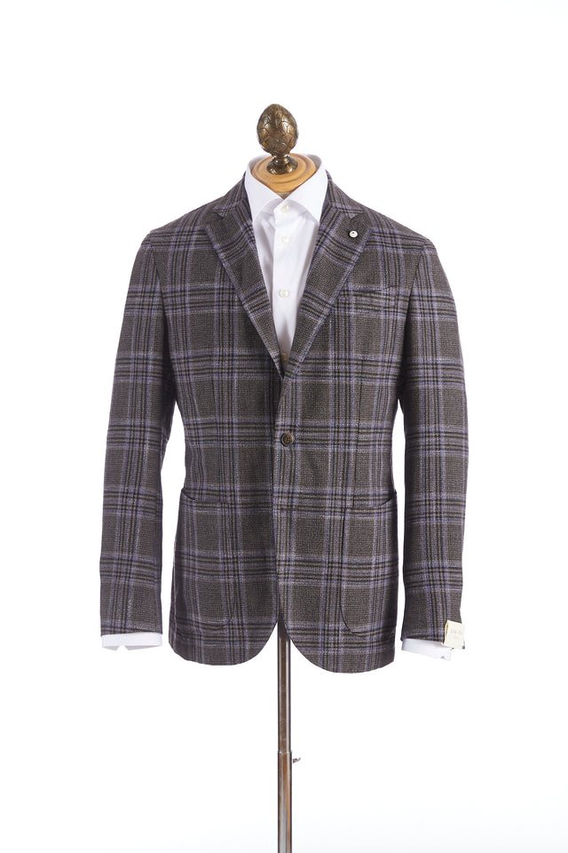 L.B.M. 1911 Grey and Blue Glencheck Sport Jacket - Sport Jackets - L.B.M. 1911 - LALONDE's