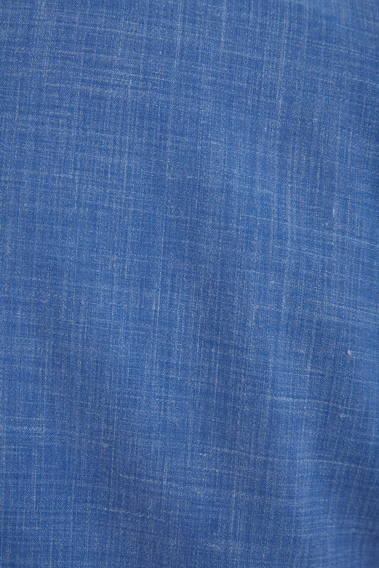 L.B.M. 1911 Light Blue Wool-Linen Fabric