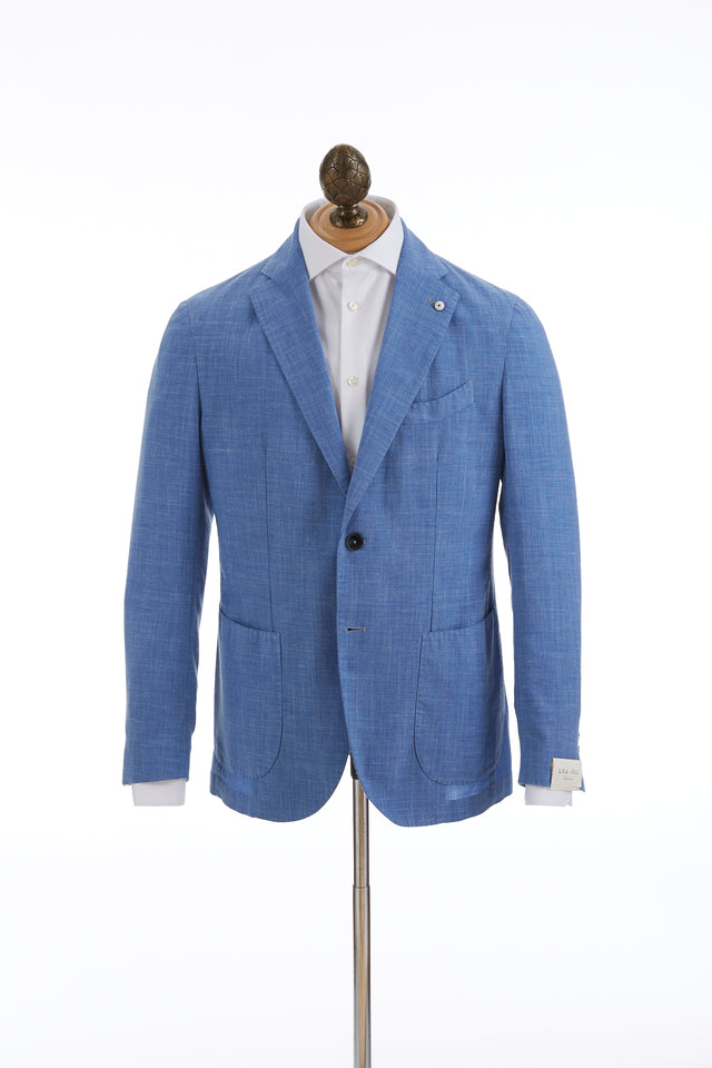 L.B.M. 1911 Light Blue Wool-Linen Sport Jacket