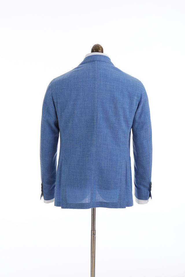 L.B.M. 1911 Light Blue Wool-Linen Sport Jacket Back