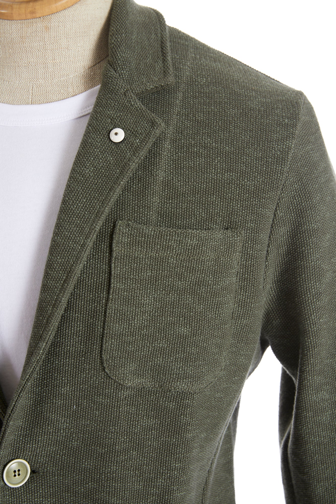 L.B.M. 1911 Moss Green Cotton Sweater Jacket - Sport Jackets - L.B.M. 1911 - LALONDE's