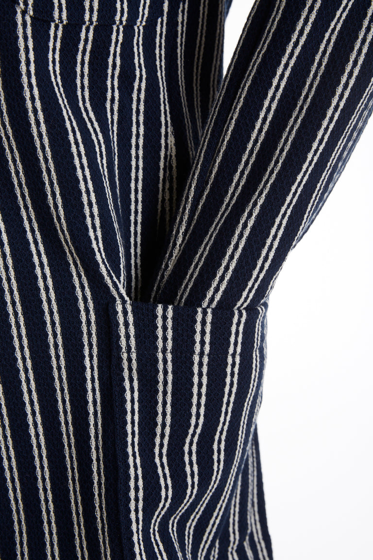 L.B.M. 1911 Navy Striped Cotton Cardigan Jacket