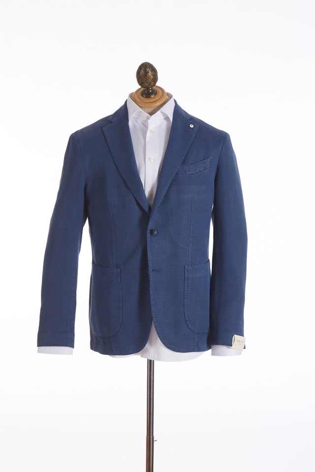 LBM 1911 Blue  Basketweave Sport Jacket