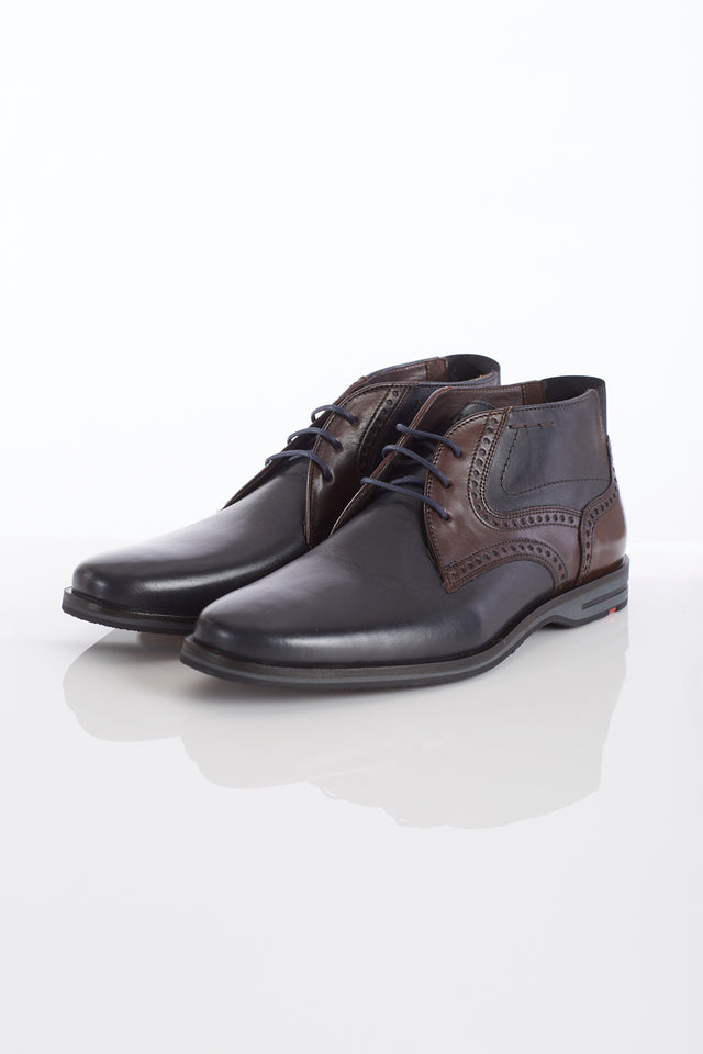 Lloyd 'Barnaby' Navy-Brown Two Tone Chukka - Shoes - Lloyd - LALONDE's