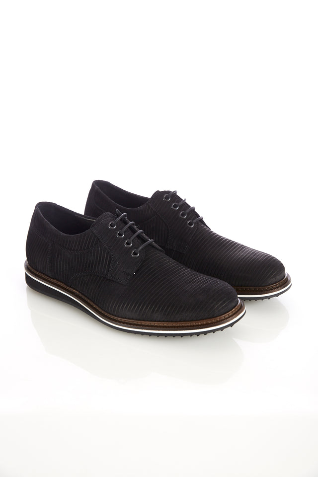 Lloyd 'Frederic' Black Suede Cord Shoe - Shoes - Lloyd - LALONDE's