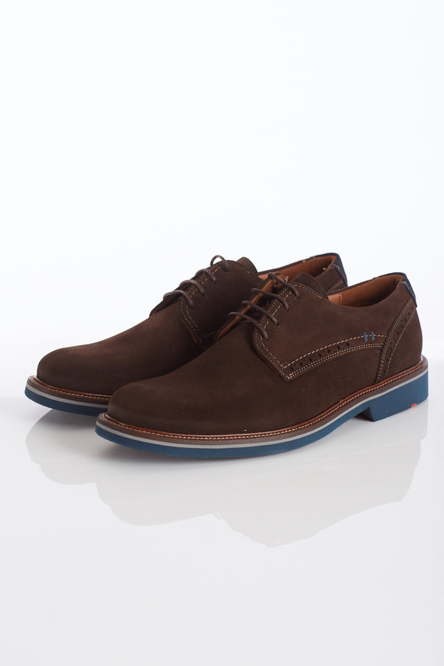 Lloyd Shoes 'Hagen' Brown Suede Lightweight Derby