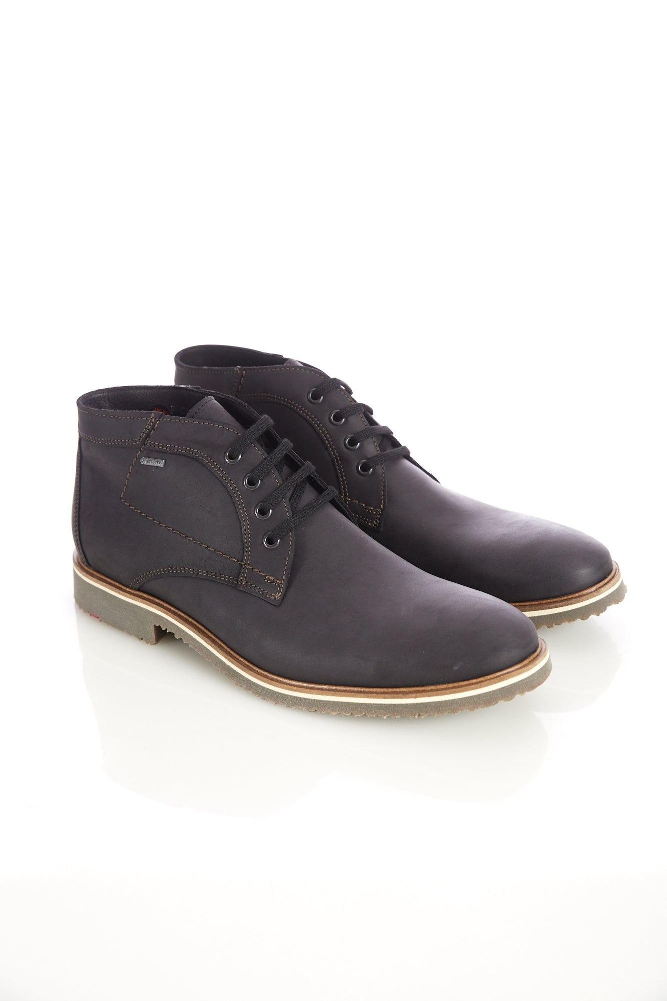 Lloyd 'Vallett' Black Leather Gore-Tex Chukka Boot - Shoes - Lloyd - LALONDE's