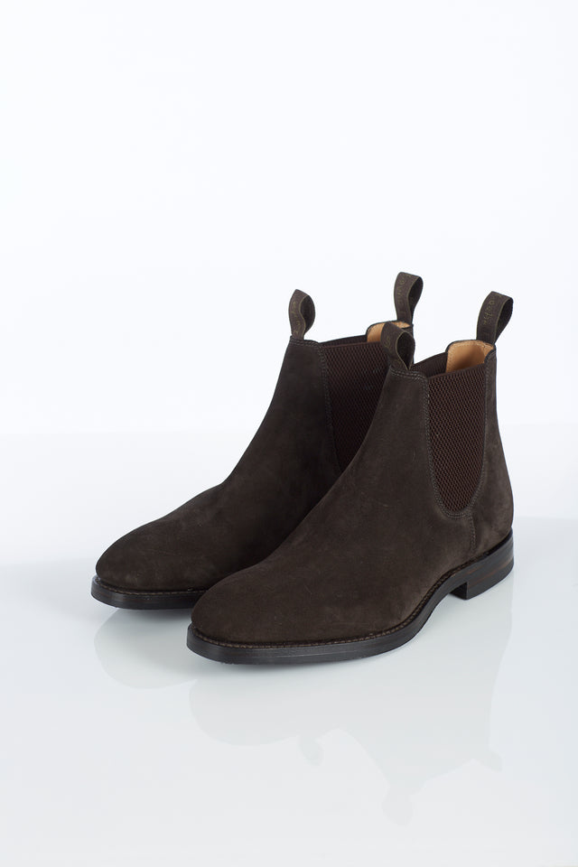 Loake 1880 Chatsworth Chocolate Brown Suede Chelsea Boot