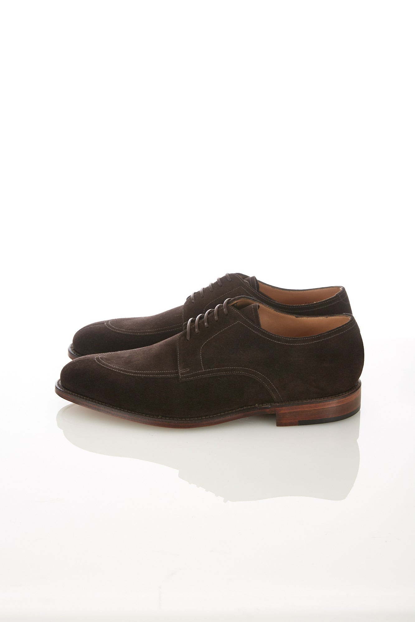 Loake 1880 Ealing Dark Brown Suede Split-Toe Shoe - Shoes - Loake - LALONDE's