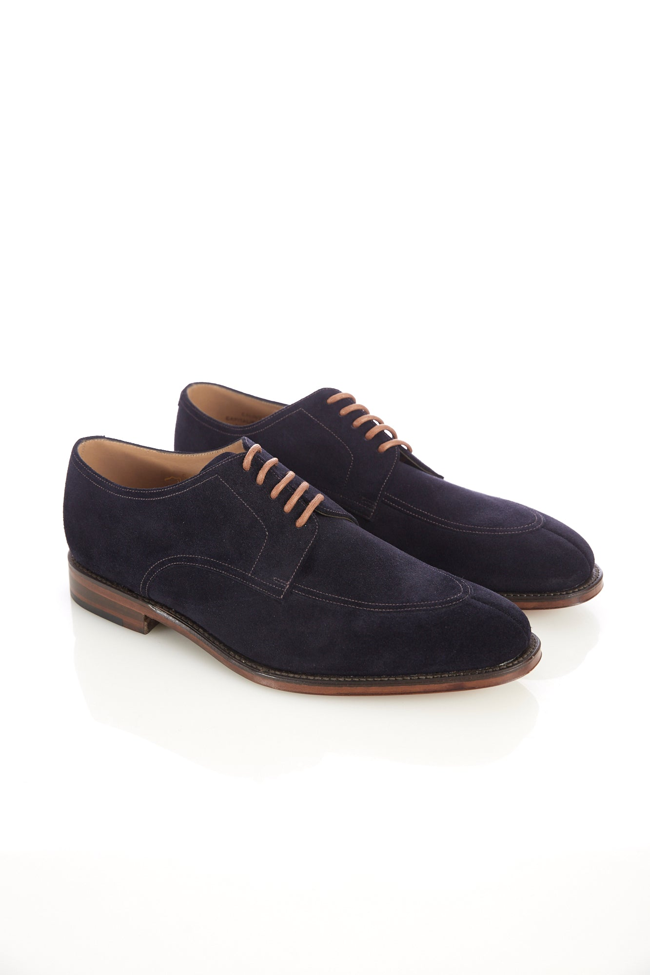 Loake 1880 Ealing Navy Suede Split-Toe Shoe - Shoes - Loake - LALONDE's