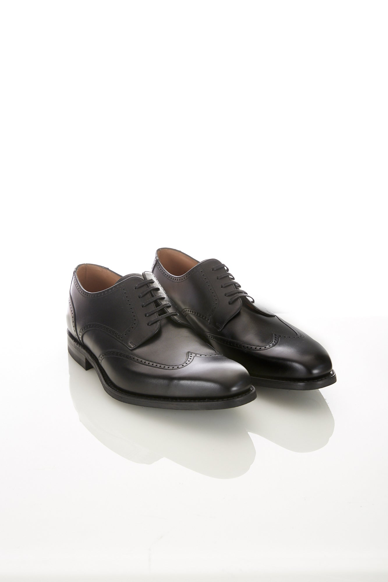 Loake 1880 Eden Black Wingtip Shoe - Shoes - Loake - LALONDE's