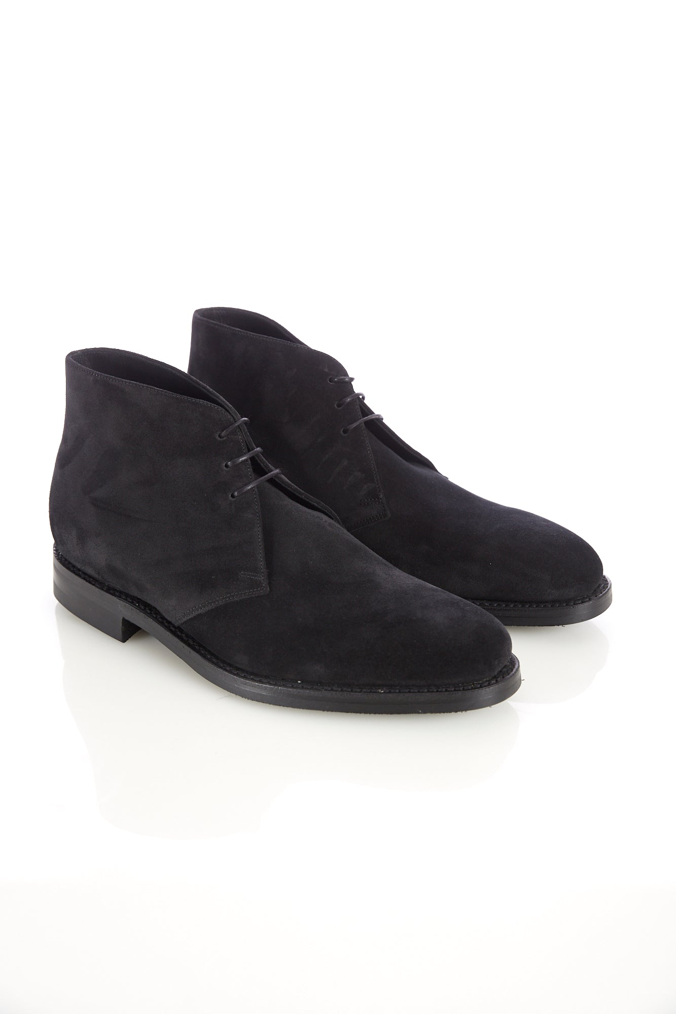Loake 1880 Pimlico Black Suede Chukka Boot - Shoes - Loake - LALONDE's