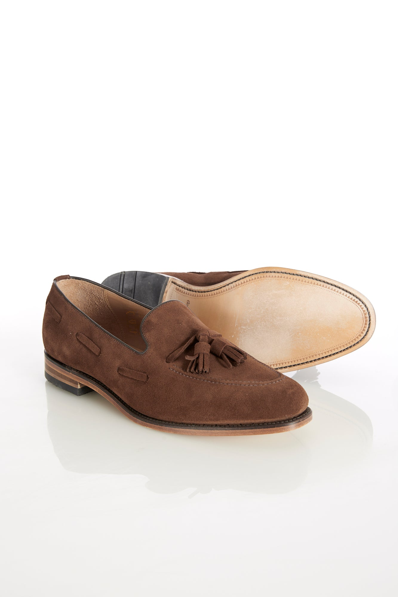 Loake 'Lincoln' Brown Suede Tassel Loafer